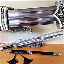 Handmade Chinese Sharp Folded Damascus Steel KungFu Sword For Han Jian Full Tang