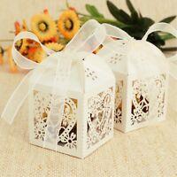 50 Stk. Hochzeitsboxen wedding gift Box Geschenk Dekoration Hochzeit beige ivory