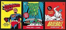 2018 Topps 80th Anniversary Wrapper Art Set #6 Superman, Baseball Turtles