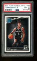 2018 Panini Donruss Optic #174 Lonnie Walker IV Spurs Rated Rookie RC PSA 10