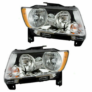 FOR JEEP COMPASS 2011 2012 2013 HEADLIGHT RIGHT & LEFT PAIR