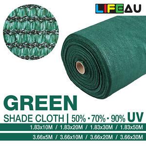 LiFEAU 50% 70% 90% GREEN UV Shade Cloth Shadecloth Sail Garden Mesh Roll Outdoor