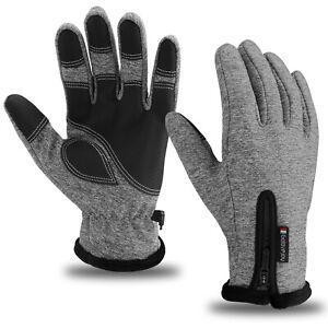 Men Women Winter Thermal Gloves Touch Screen Waterproof Windproof Ski Mittens US