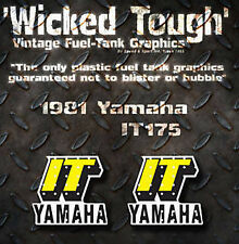 YAMAHA 1981 IT175 IT250 IT465 WICKED TOUGH TANK DECALS GRAPHICS ONLY