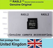 Vintage Card 32 / 64 MB Mini SD Memory Card For OLD Mobile Phone & Other Devices