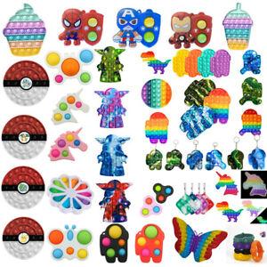 Rainbow AMONG US YODA Pop Its Fidget Toy Push bubble stress relief kids pop it