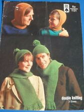 Bellmans Hat Balaclava & Scarf Knitting Pattern 1131