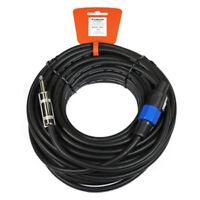 """Podium Pro M50 50' Speakon Connector  1/4"""" Jack Speaker 12 Gauge Cable Cord M50"""
