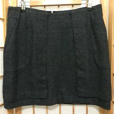 """""""COUNTRY ROAD""""SIZE """"M""""LADIES SHORT WOOL/COTTON BLEND WARM GREY SKIRT"""