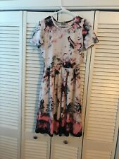 LuLaRoe Amelia Watercolor Tie dye UNICORN Easter Dress S NWT