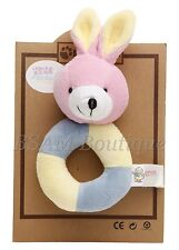 Brand New Baby's Soft Ring Rattle- Bunny Rabbit