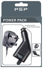 Quality UK AC Mains & Car Charger Power Lead Pack For Sony PSP 1000/2000/3000