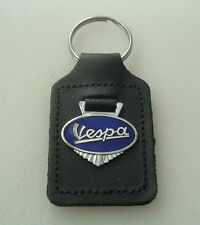 VESPA ENAMEL BADGED LEATHER KEYRING, KEY CHAIN, KEY FOB