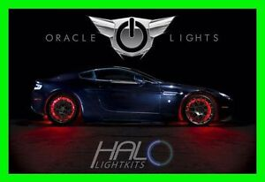 RED LED Wheel Lights Rim lights Rings by ORACLE (Set of 4) for CHEVY MODELS 3