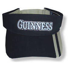 Guinness Beer Embroidered Black & Tan Visor Hat Cap New Official Merch