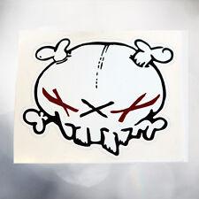 Blowsight Aufkleber - Weiß mit Skully