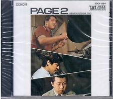 "GEORGE OTSUKA TRIO ""PAGE 2"" CD TACT JAZZ SERIES 1987 NUOVO SIGILLATO 30CY-1384"