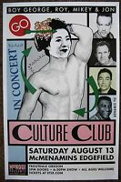 CULTURE CLUB 2016 BOY GEORGE Gig POSTER Edgefield Portland Oregon Concert VERS 2