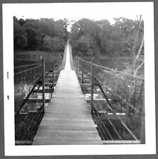 VINTAGE PHOTOGRAPH 1965 SWINGING BRIDGE SOURIS MANITOBA CANADA OLD PHOTO