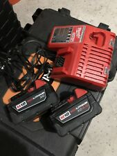 Milwaukee 18V 18 Volt M18 Red Lithium Ion Battery 2 PK & Charger SET