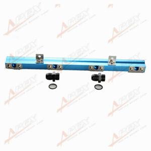 For Volvo 240, 740, 940 High Flow CNC Billet Aluminum Alloy Fuel Rail Blue