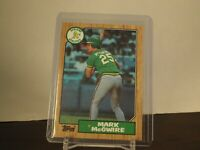 1987 Topps #366 Mark McGwire Oakland Athletics Rookie RC Card A's