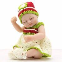 Lifelike Silicone Sleep Girl Reborn Baby Doll+Clothes Newborn Dolls 11 Inch Mini