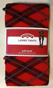 HOLIDAY TIME Ladies' Tights, S/M, Red