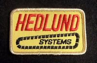 "HEDLUND SYSTEM EMBROIDERED SEW ON PATCH FARM ADVERTISING COMPANY 3 1/4"" x 2"""