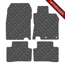 New Fully Tailored Car Floor Mats Black Checker Rubber Nissan Micra 2010-Now