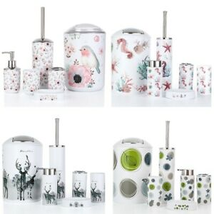 Nordic 6Pcs/Set Printing Bathroom Accessory Set Lotion Dispenser Toothbrus V5H5