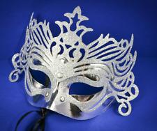 Lot of 12 Bulk Wholesale Silver Mardi Gras Masks Masquerade Party Costume Mask