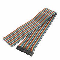 10Pcs 4P Jumper Wires Female Head Ribbon Cables Pi Pic Breadboard 50cm Long