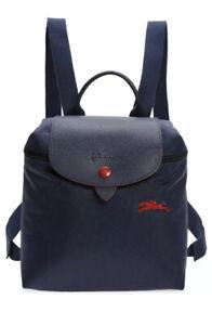 New Longchamp Le Pliage Nylon Club Mini Foldable Backpack In Navy $125.00