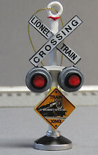 LIONEL TRAIN CROSSING CHRISTMAS TREE ORNAMENT resin train decoration rr 9-22040