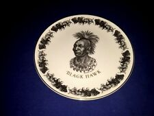 3 Wedgwood Collector Plates ~ Black Hawk Indian Chief & Williamsburg Capitol