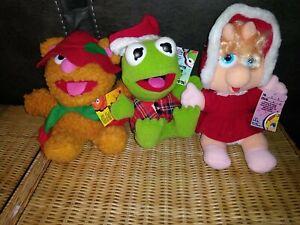 1987 McDonalds MUPPET BABIES Fozzie Bear Miss Piggy Kermit Plush Lot w/ Tags