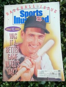 Sports Illustrated April 16, 1990   Cover: Ted Williams