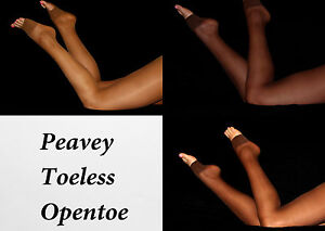 Peavey Toeless Pantyhose MADE SOLD IN USA Hooters Uniform B C D PIC COLOR