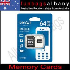 Lexar 64GB Class 10 Micro SDXC High Speed Memory Card 64 gb + Adaptor