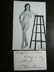 LINDA HARRISON as NOVA Hand Signed Autograph CUT + 4X6 Photo PLANET OF THE APES