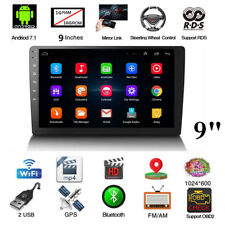 """Androi 7.1 9""""1080P Double 2Din Touch Screen Quad-Core 1+16G Car Stereo Radio GPS"""