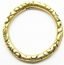 A Wonderful Georgian 9k Gold Split Ring for Necklace / Fob Seal & Charms etc