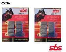 Honda CB 1000 R (no ABS) 2010 SBS 809HS Delantero Pastillas De Freno STREET Excel Travertino
