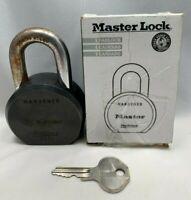 "Master Lock 6230 Black 2-1/2"" Wide ProSeries Round Body Padlock 1 Key Orig Box"