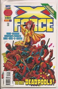 °X-FORCE #56 TOO MANY DEADPOOLS°US Marvel 1996 Onslaught update