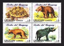 DINOSAUR PREHISTORIC FAUNA FOSSILIZED ANIMALS TURTLE ELEPHANT URUGUAY  #1713