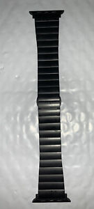 Platinum - Link Stainless Steel Band for Apple Watch 42mm/44mm - Black