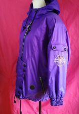 Vintage Vuarnet Sport Womens Size 8 Purple Hooded Nylon Ski Jacket Coat