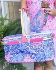 Lilly Pulitzer NWT GWP Collapsible Cooler Picnic Basket Raising Shell Insulated